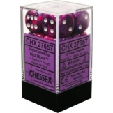 Chessex Dice 12D6 Festive Violet/White 16MM