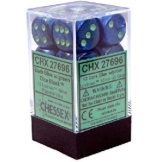 Chessex Dice 12D6 Lustrous Dark Blue/Green 16MM