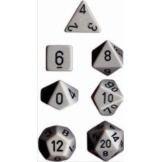 Chessex Dice Opaque 7pc Dark Grey/Black