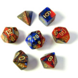 Chessex Dice Gemini Blue/Red/Gold