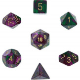 Chessex Dice Gemini Green/Purple/Gold