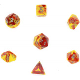 Chessex Dice Gemini Red/Yellow/Silver