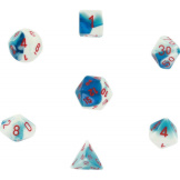 Chessex Dice Gemini Astral Blue/White/Red