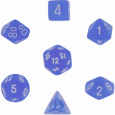 Chessex Dice Frosted: 7Pc Blue / White