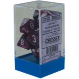 Chessex Dice RPG Lustrous Amethyst/White Luminary