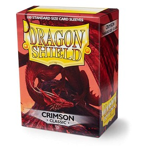 Dragon Shield Sleeves Crimson 100ct