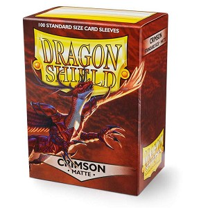 Dragon Shield Sleeves Matte Crimson 100ct