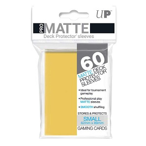 Ultra Pro Deck Protectors Small Matte Yellow 60CT