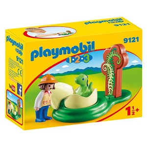 Playmobil 1-2-3 Girl with Dino Egg