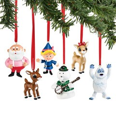 Rudolph mini ornament set of 6