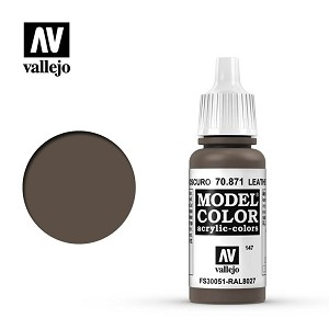 Vallejo Model Color Leather Brown 17ml