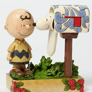 Charlie Brown & Snoopy at Mailbox