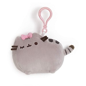 "Pusheen Grey 4.5"" With Bow - Backpack Clip"