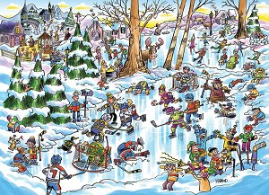 DoodleTown: Hockey Town 1000 piece puzzle