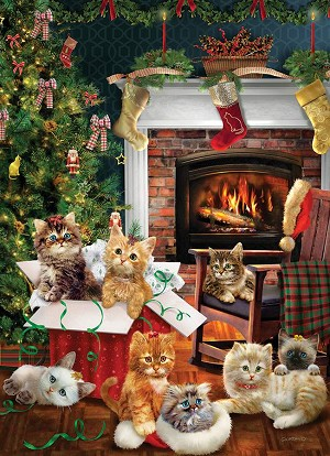Christmas Kittens 1000 piece puzzle