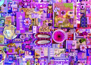Rainbow collection-Purple 1000 piece puzzle