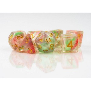 TMG Dice Dragon's Dice RPG Set of 7 Seakist Bright Koi