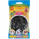 Hama Beads 1000pc Bag Black