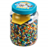 Hama Beads 7000pcs + Peg Board Blue