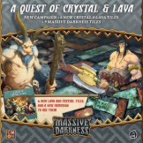 Massive Darkness Crystal & Lava Tile Set