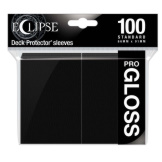 Ultra Pro Deck Protectors Eclipse Gloss Jet Black 100CT