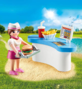Playmobil Diner Waitress With Counter Easter Egg