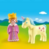 Playmobil 1-2-3 Princess With Unicorn