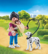 Playmobil Mother With Baby & Dog