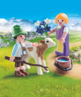 Playmobil Children With Calf