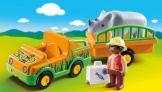 Playmobil 1-2-3 Zoo Vehicle With Rhino
