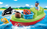 Playmobil 1-2-3 Fisherman With Boat
