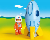 Playmobil 1-2-3 Astronaut With Rocket