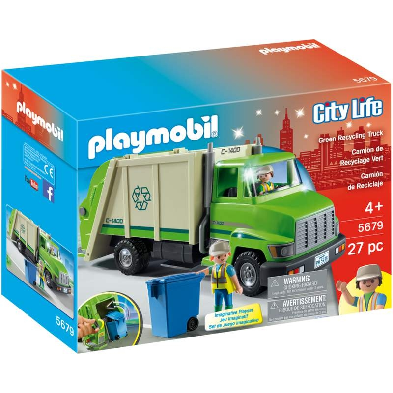 Playmobil Green Recycling Truck