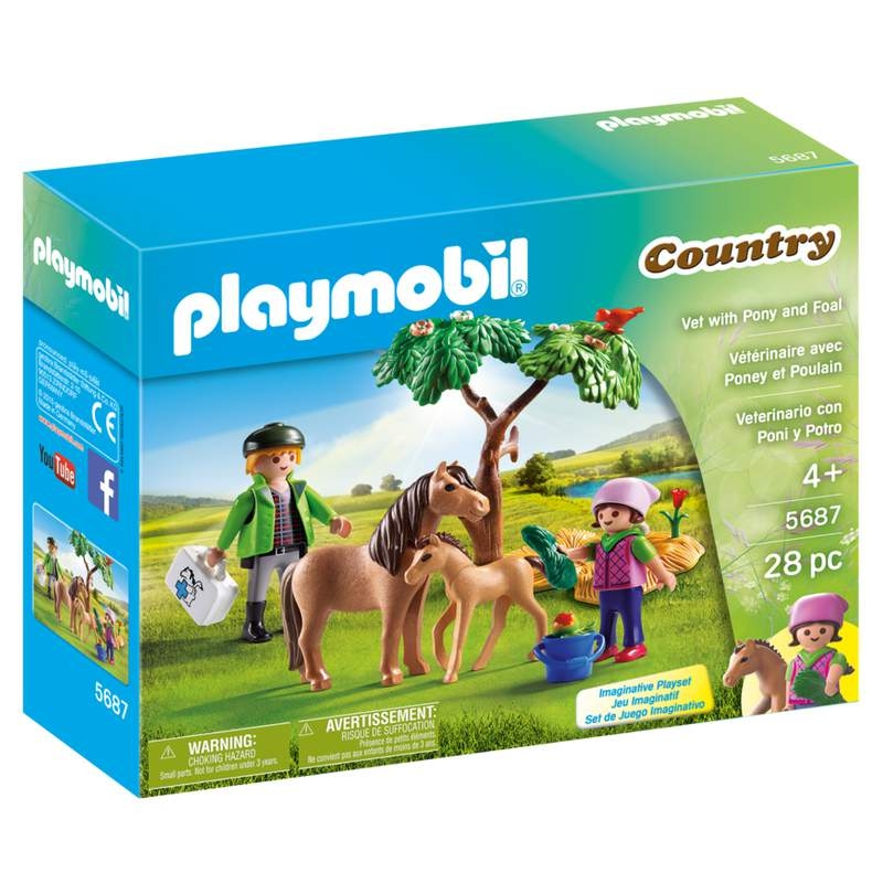 Playmobil Vet with Pony & Foal