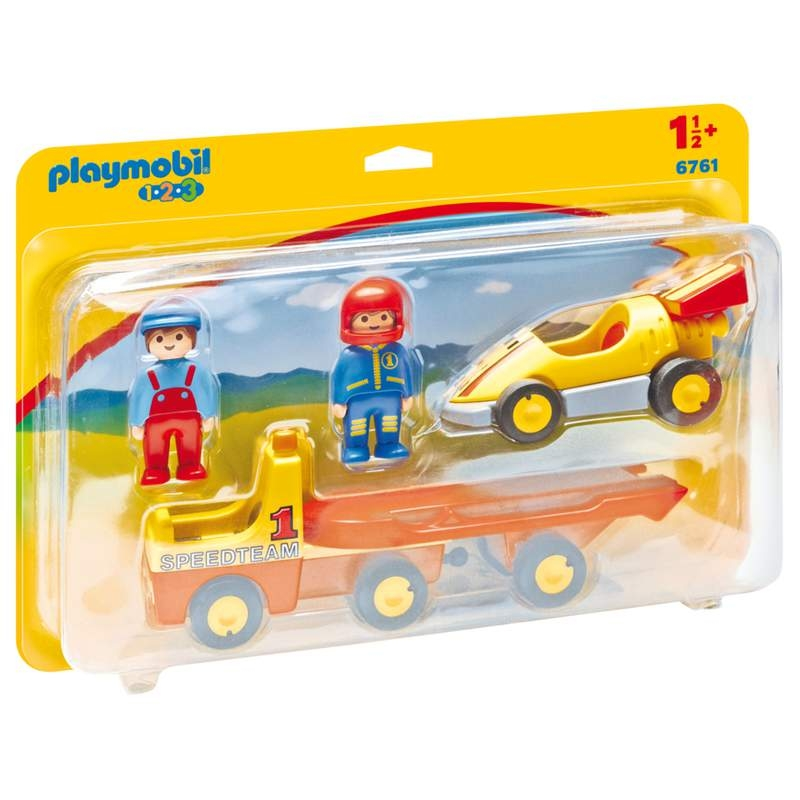 Playmobil 1-2-3 Tow Truck with Racecar