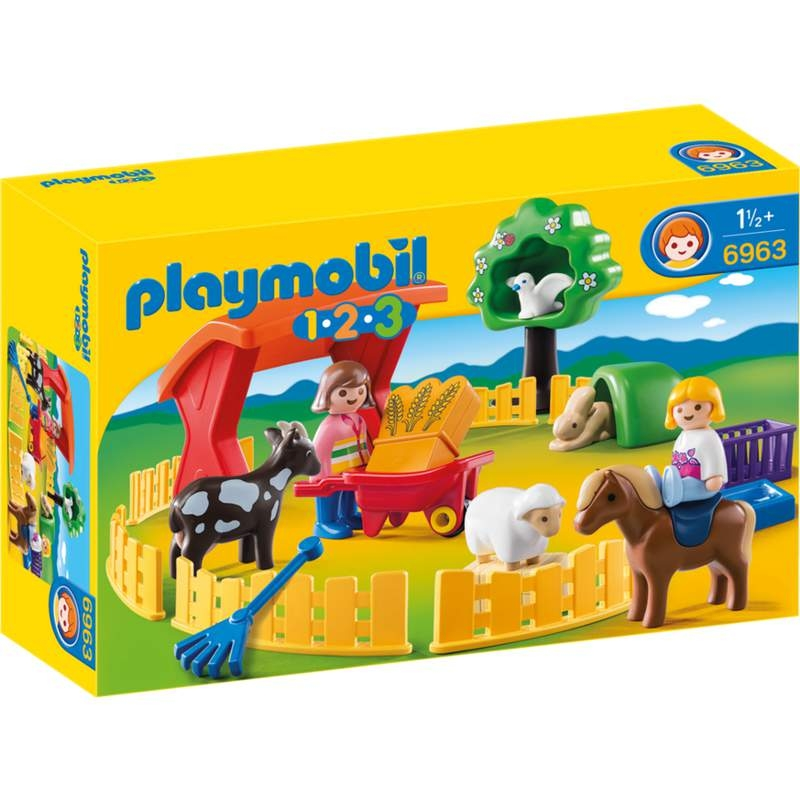 Playmobil 1-2-3 Petting Zoo