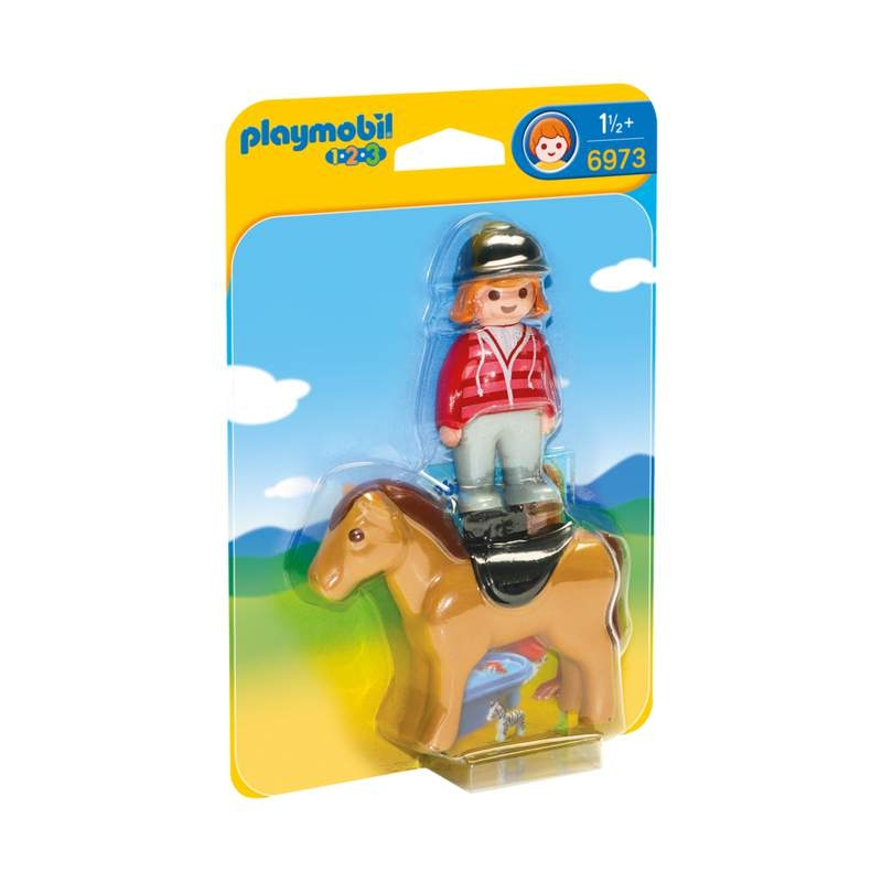 Playmobil 1-2-3 Equestrian With Horse