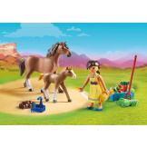 Playmobil Spirit II Pru With Horse & Foal