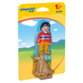 Playmobil 1-2-3 Man with Dog