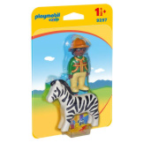 Playmobil 1-2-3 Ranger with Zebra