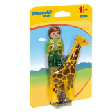 Playmobil 1.2.3. Zookeeper with Giraffe