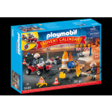 Playmobil Advent Construction Site Fire Rescue