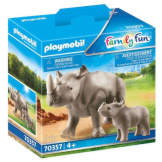 Playmobil Rhino With Calf