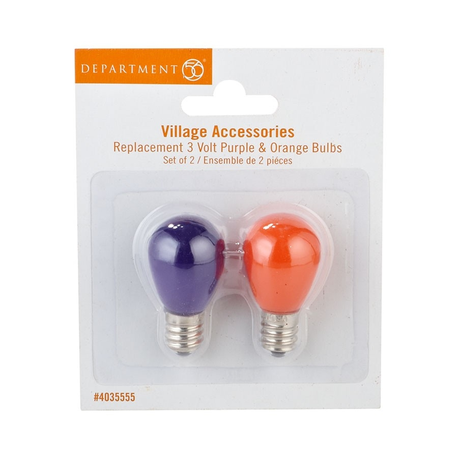Replacement 3 Volt Purple & Orange Bulbs