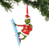 Grinch On A Ladder Ornament