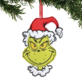 Grinch Felt Ornament