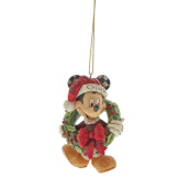 Mickey Mouse with Wreath Ornament