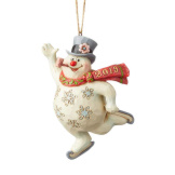 Frosty Ice Skating Ornament 2019