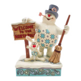 Frosty with Welcome Sign