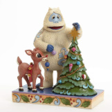 Bumble & Rudolph Decorating Tree